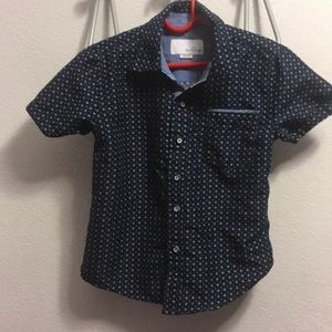 Craft & Flow Blue Casual Short Sleeve Size 4 Small